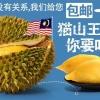 正宗马来西亚猫山王榴莲液氮保鲜带壳5A果一箱10公斤顺丰包邮